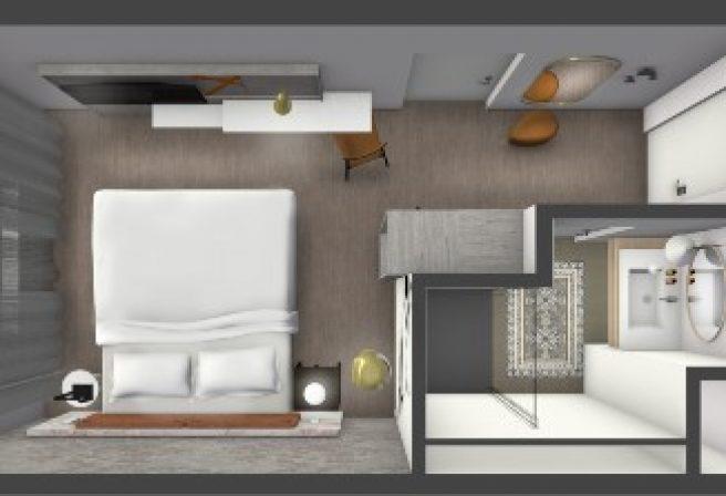 Das Zimmer im Überblick, in unserem Arthotel ANA Amber.