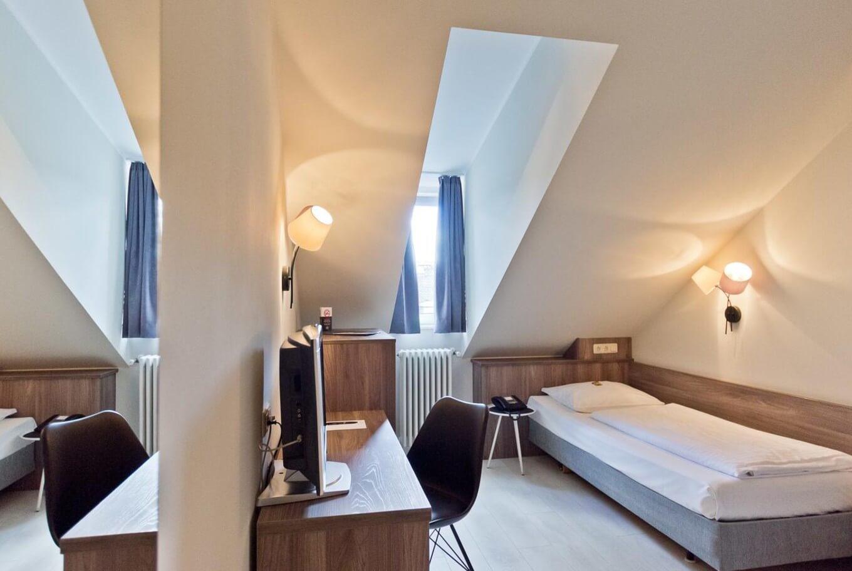 Zimmer für eine Person im Hotel München Zentrum.