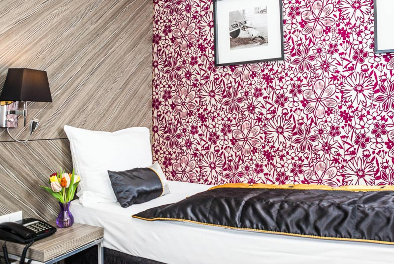 The single rooms in our Boutique Hotel in Vienna.
