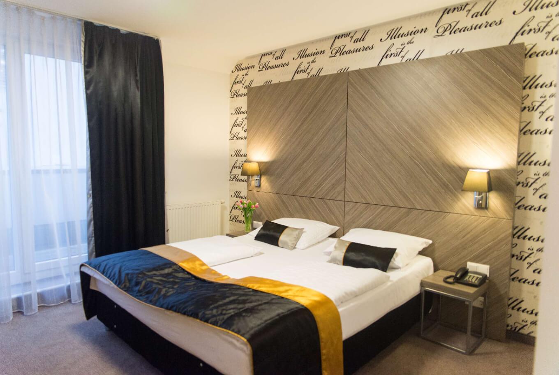 Unser Doppelzimmer im Boutique Hotel Wien.