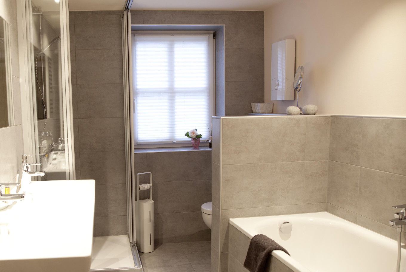Our bathroom of the apartments in Arthotel ANA Paderborn