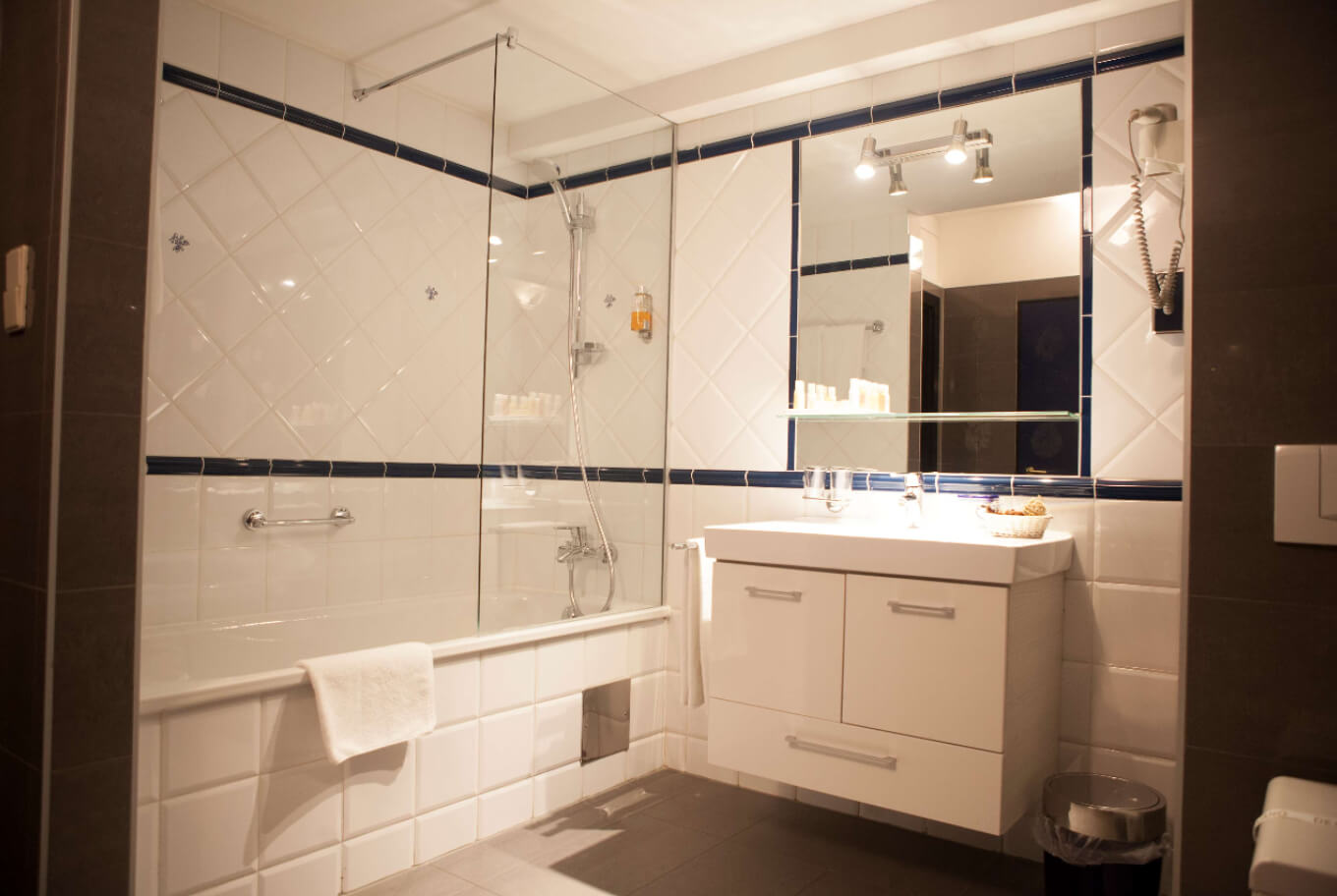 One of our bathrooms at Arthotel ANA Gala Wien.