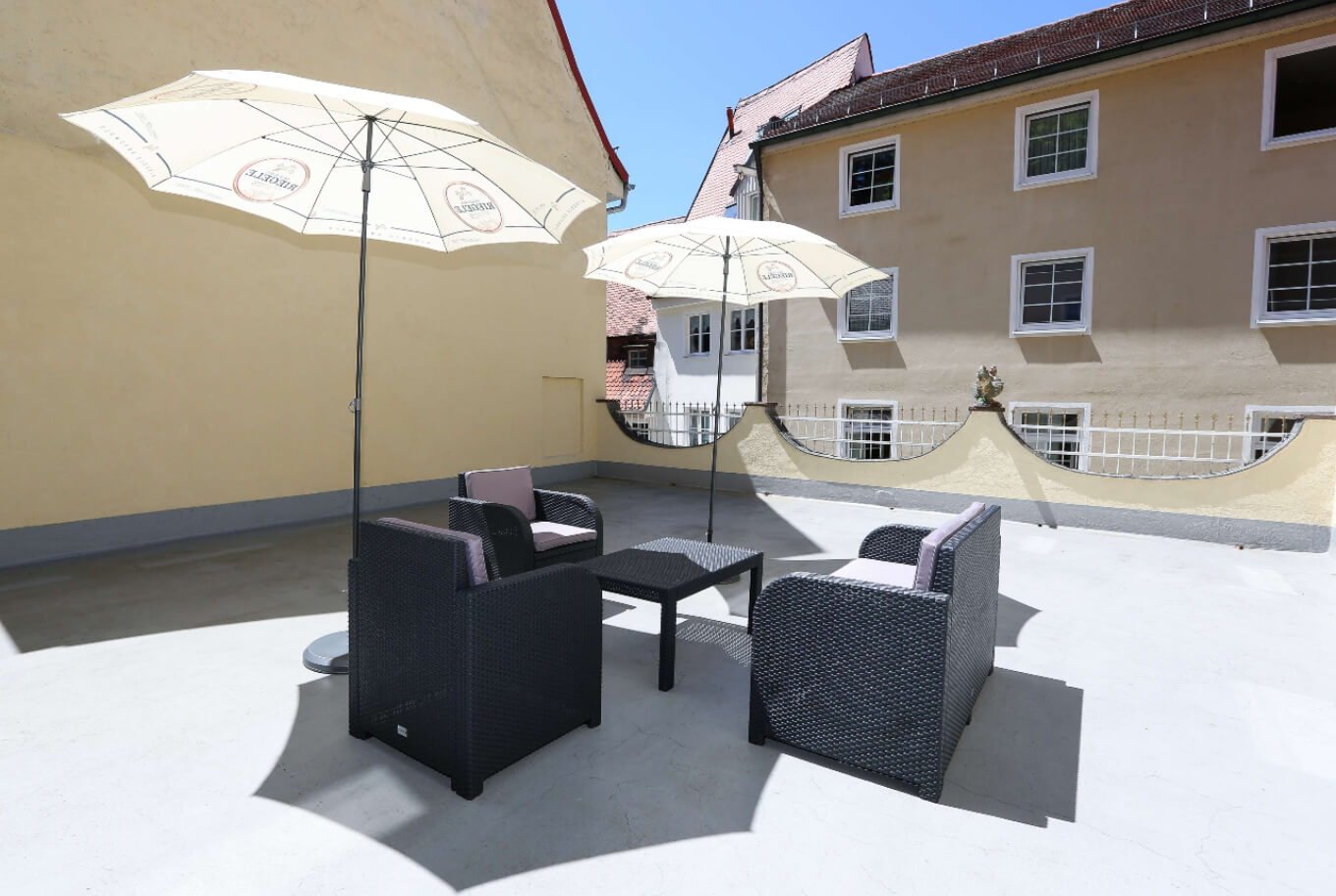 Our suites outdoor terrace in | Arthotel ANA Landsberg am Lech
