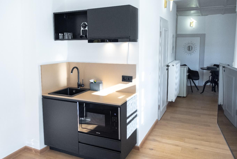 Die Küche in unserem Boardinghouse Augsburg.