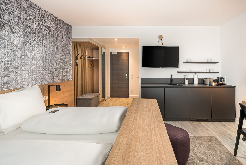 Wohnen auf Zeit in Augsburg, in unserem Arthotel ANA Living Augsburg.