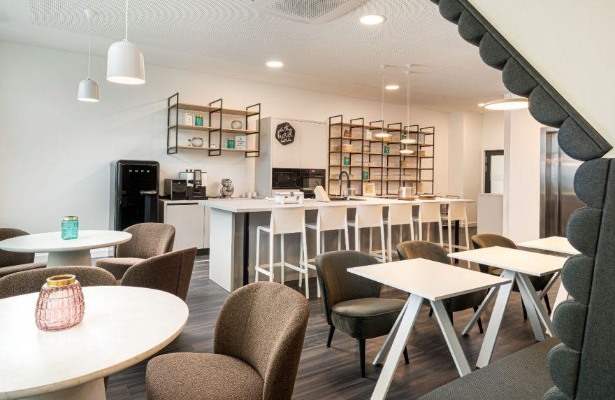 Die Social Kitchen in unserem Boardinghouse Augsburg.