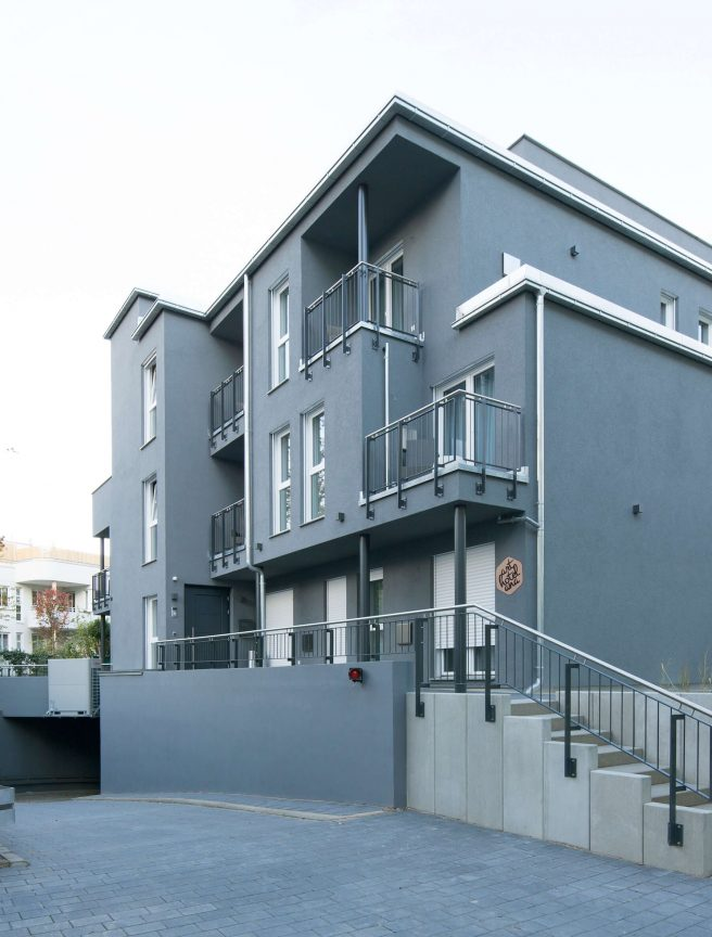 Die Außenaufnahme vom ANA Living Karlsruhe by Arthotel ANA.
