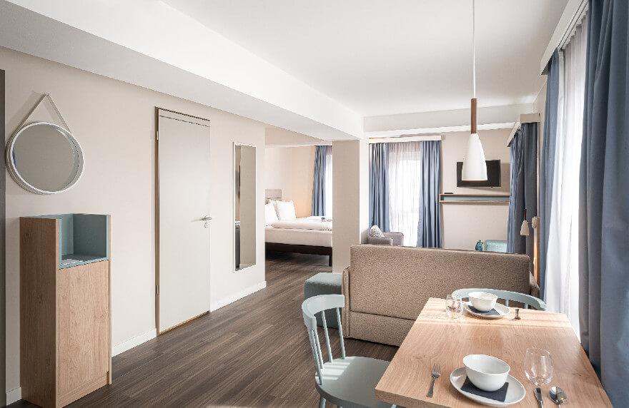 Für mehr als eine Nacht in unserem Apartment in Oberhausen übernachten.