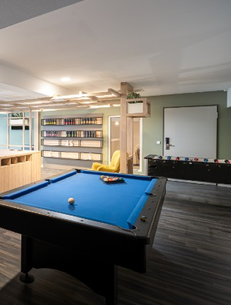 Der Billiard Tisch in unserem Arthotel ANA Soul Oberhausen.