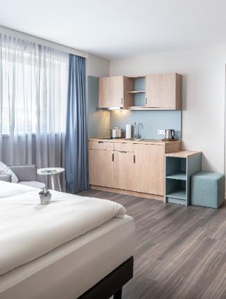 Standard Wohnbereich im Arthotel ANA Living Oberhausen.