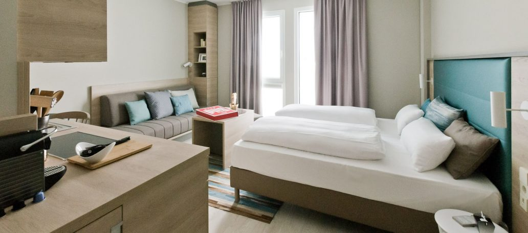 Ideal zum Wohnen auf Zeit, die Apartments im Arthotel ANA Living