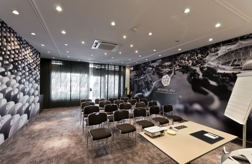 Our conference room in the Hotel München Olympiapark.