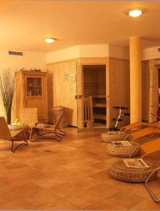Der Saunabereich im Arthotel ANA Petite.
