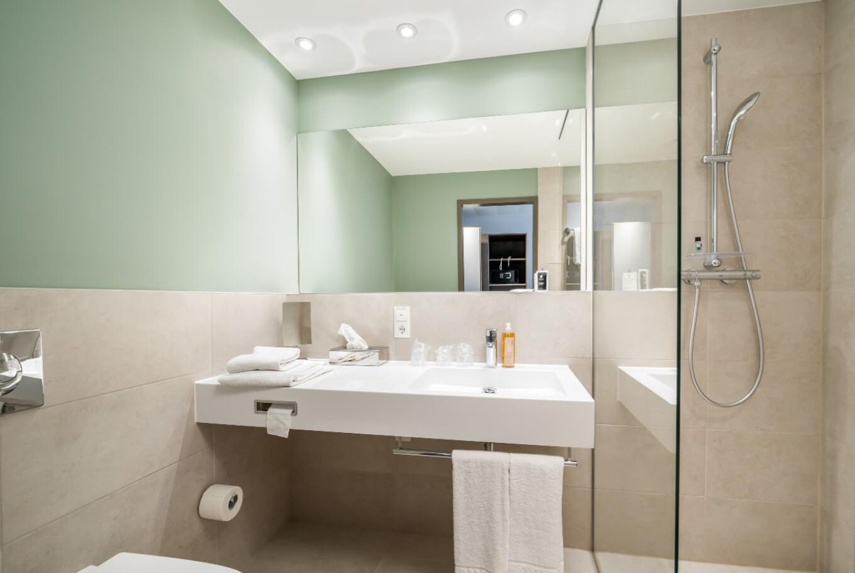 Eines der neu renovierten Zimmer in den Dreibettzimmern des Arthotel ANA Soul.