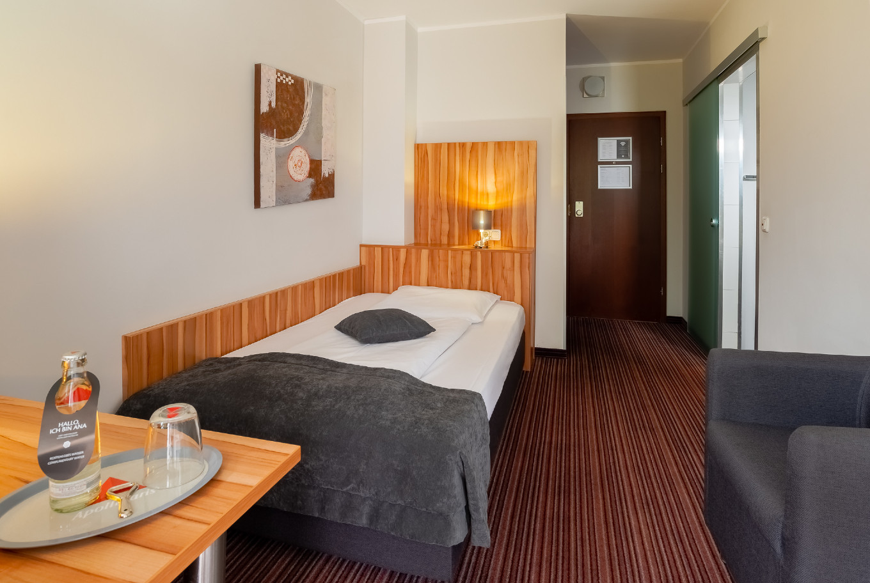 Die Einzelzimmer in unserem Hotel Augsburg.